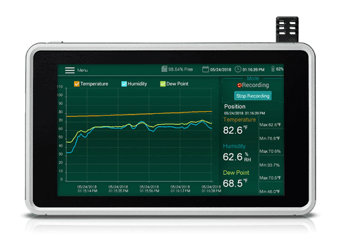 Humidity/Temperature Chart Recorder with Touch Screen